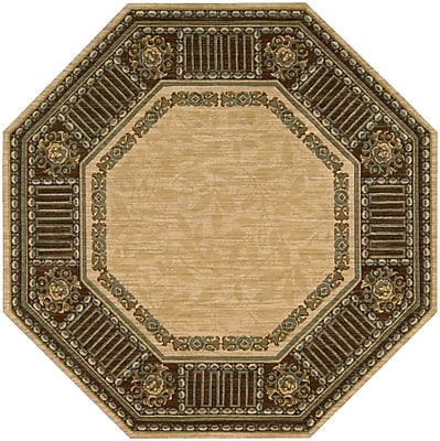 Astoria Grand Bryn Beige Area Rug; Octagon 5'6''