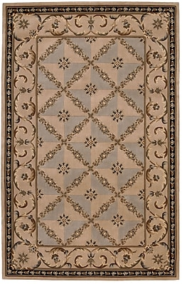 Astoria Grand Brownlee Brown/Tan Wool Area Rug; Rectangle 5'3'' x 8'3''