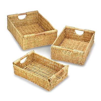 Bay Isle Home Maize Nesting Wicker 3 Piece Basket Set