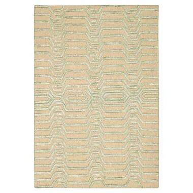 Brayden Studio Jandreau Hand-Tufted Ivory/Green Area Rug; 4' x 6'