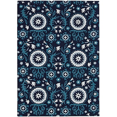 Charlton Home Aberdeenshire Blue Outdoor Area Rug; 3'9'' x 5'9''