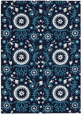 Charlton Home Aberdeenshire Blue Outdoor Area Rug; Rectangle 5'3'' x 7'5''