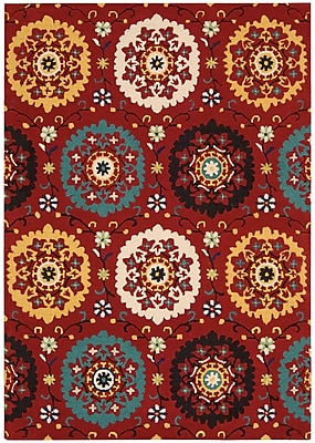 Charlton Home Aberdeenshire Hand-Tufted Red Area Rug; 5'3'' x 7'5''