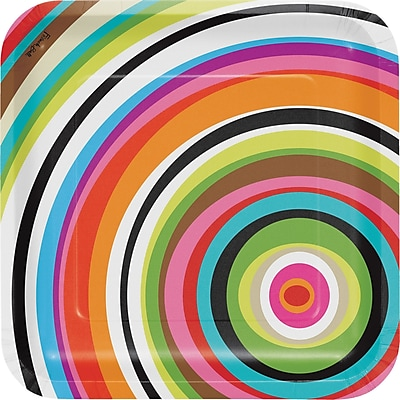 Creative Converting Ring Paper Dinner Plate (Set of 10)