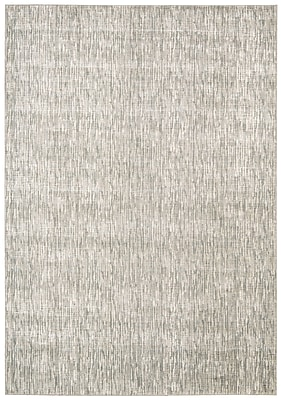 Corrigan Studio Coby Gray Wool Area Rug; Rectangle 5'3'' x 7'5''