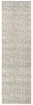 Corrigan Studio Coby Gray Wool Area Rug; Runner 2'3'' x 8'