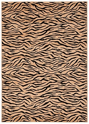 Bloomsbury Market Pheasant Hill Rectangle Ivory and Black Rug; Rectangle 3'6'' x 5'6''