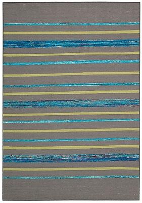 Bloomsbury Market Pine Grove Gray Turquoise Rug; Rectangle 3'9'' x 5'9''