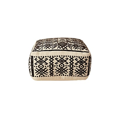 Bloomsbury Market Priestly Truck Ship Wool Hand-Woven Ottoman