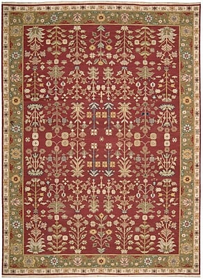 Bloomsbury Market Prescot Hand-Woven Burgundy Area Rug; Rectangle 7'10'' X 9'10''