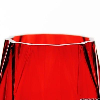 Bloomsbury Market Ramapo Geometric Ribbed Faceted Gem Table Vase (Set of 6) WYF078282046506