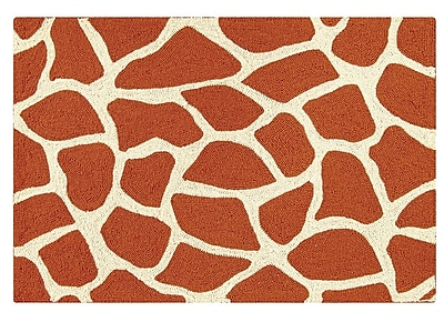 Bloomsbury Market Rodericks Giraffe Wool Brown Area Rug