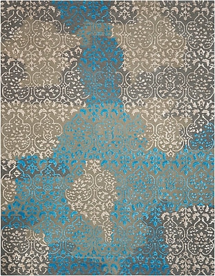 Darby Home Co Highwood Hand-Tufted Charcoal Area Rug; Rectangle 5'6'' x 7'5''