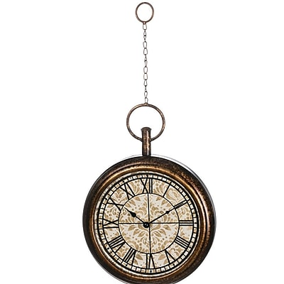 Darby Home Co Albany Hanging Metal 10'' Analog Wall Clock