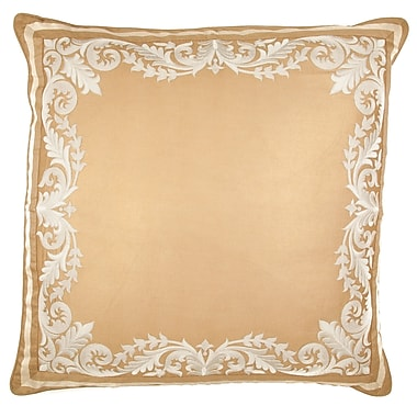 Sivaana Embroidered Panel Silk Euro Pillow