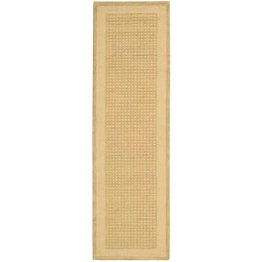 Ebern Designs Aspasia Hand-Tufted Sand Area Rug; Runner 2'3'' x 7'6''
