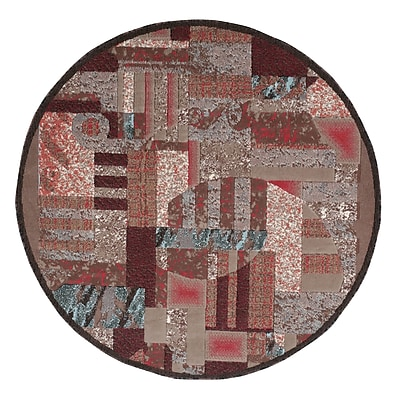 Ebern Designs Athan Brown Area Rug; Round 5'3''