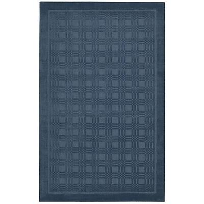 Ebern Designs Aspasia Hand-Woven Blue Area Rug; 5' x 8'
