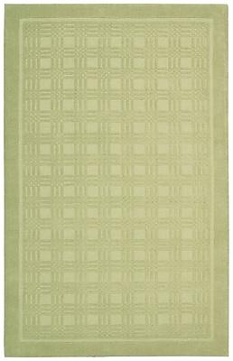 Ebern Designs Aspasia Geometric Lime Area Rug; 8' x 10'6''