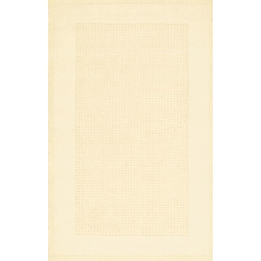 Ebern Designs Aspasia Hand-Tufted Ivory Area Rug; Rectangle 2'6'' x 4'