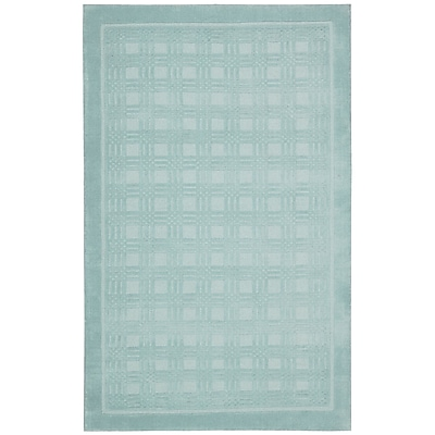 Ebern Designs Aspasia Aqua Area Rug; Rectangle 8' x 10'6''