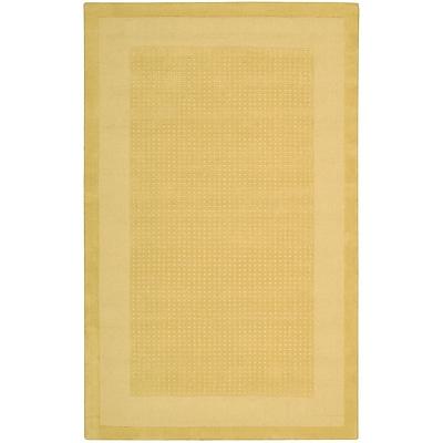 Ebern Designs Aspasia Yellow Area Rug; Rectangle 3'6'' x 5'6''