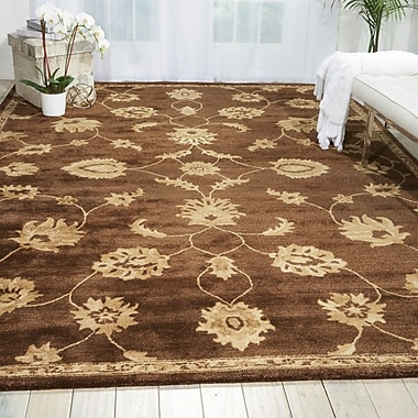 Darby Home Co Warrenville Hand-Tufted Chocolate Area Rug; 3'6'' x 5'6''