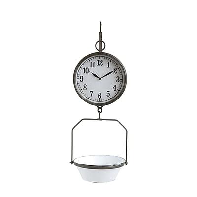 Gracie Oaks Bekah Iron Wall Clock