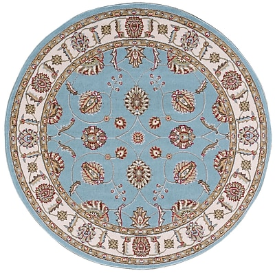 Ophelia & Co. Shalyce Blue Area Rug; Round 5'3''
