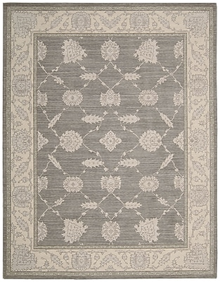 Ophelia & Co. Deeksha Pewter Area Rug; Rectangle 2'6'' x 4'3''