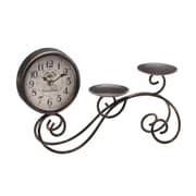 Ophelia & Co. Candleholder Tabletop Clock