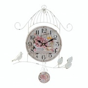 Ophelia & Co. Pham Birdcage Country Rose Wall Clock