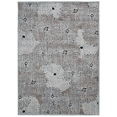 One Allium Way Genowefa Seafoam Black Area Rug; Rectangle 7'9'' x 9'9''