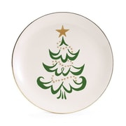 The Holiday Aisle Shining Star Tree Decorative Plate (Set of 4)