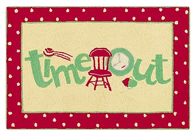 Zoomie Kids Dunand Time Out Wool Red Area Rug