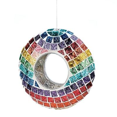 Zingz & Thingz Mosaic Glass Decorative Bird Feeder