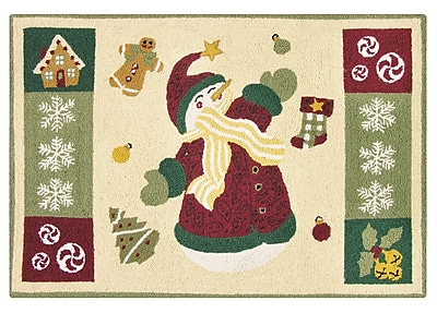 The Holiday Aisle Winterland Fun Wool Tan Area Rug