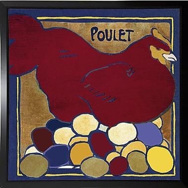 August Grove 'Poulets II' Graphic Art Print; Plastic Black Framed