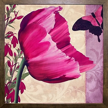 August Grove 'Pink Poppy II' Graphic Art Print; Wrapped Canvas
