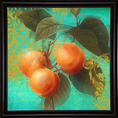 August Grove 'Glowing Fruits II' Graphic Art Print; Bistro Expresso Framed