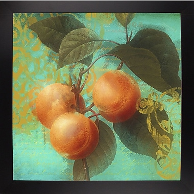 August Grove 'Glowing Fruits II' Graphic Art Print; Black Large Framed