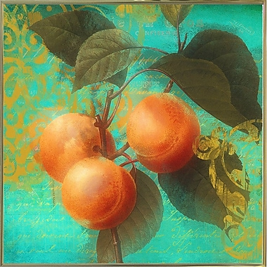 August Grove 'Glowing Fruits II' Graphic Art Print; Metal Gold Framed
