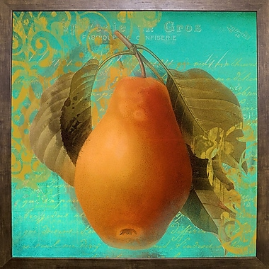August Grove 'Glowing Fruits IV' Graphic Art Print; Cafe Mocha Framed