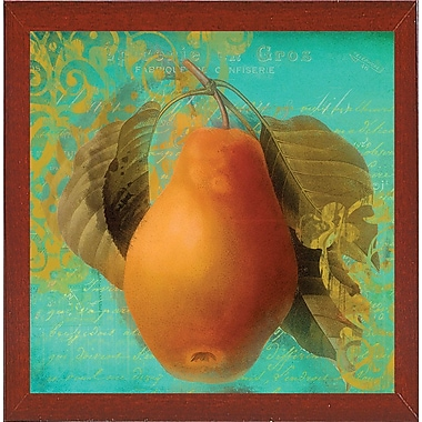 August Grove 'Glowing Fruits IV' Graphic Art Print; Red Mahogany Medium Framed