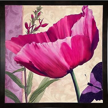 August Grove 'Pink Poppy I' Graphic Art Print; Black Medium Framed