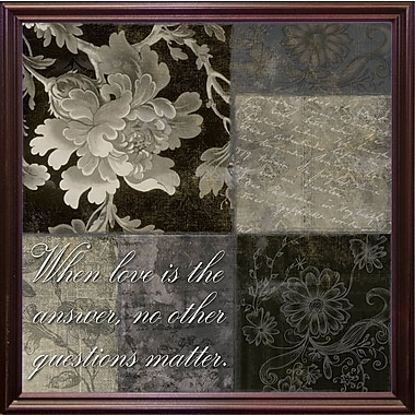 August Grove 'When Love Is the Answer' Graphic Art Print; Cherry Grande Framed