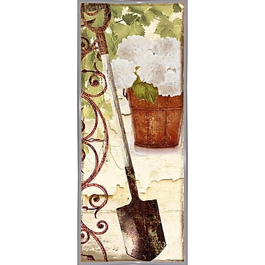 August Grove 'Vermont Summer VIII' Graphic Art Print; Metal White Framed