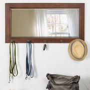 August Grove Nyles Pub Accent Mirror; Satin Walnut