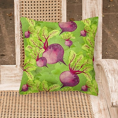 August Grove Gosling Raddishes Outdoor Throw Pillow