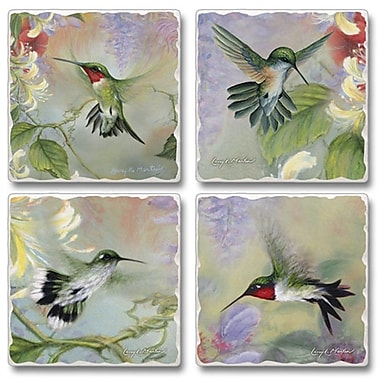 August Grove Nature's Gift Of Feathers Coaster (Set of 4)